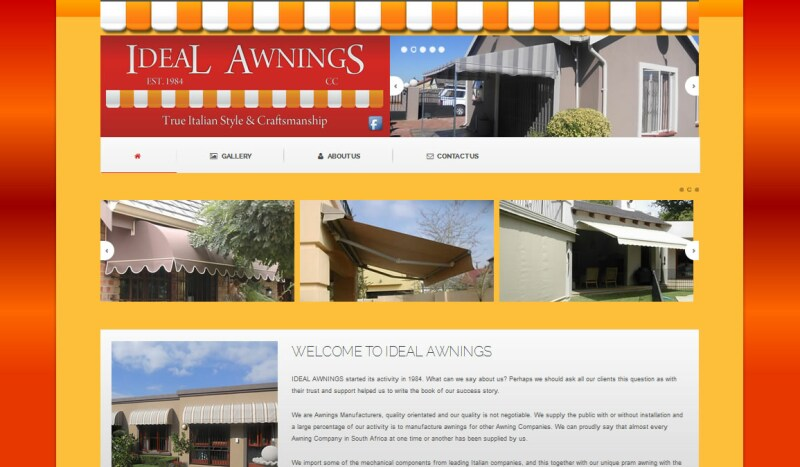 Ideal Awnings Web Devine