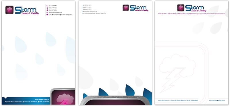 Letterhead and Complimentary Slip Designers corporate letterhead – Company Letterheads