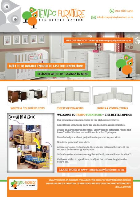 Furniture Design Poster poster and flyer designers in pretoria & cape town, corporate