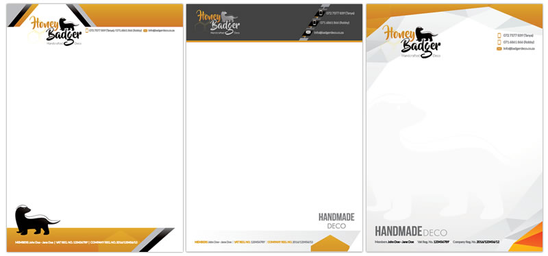 Letterhead And Complimentary Slip Designers, Corporate Letterhead