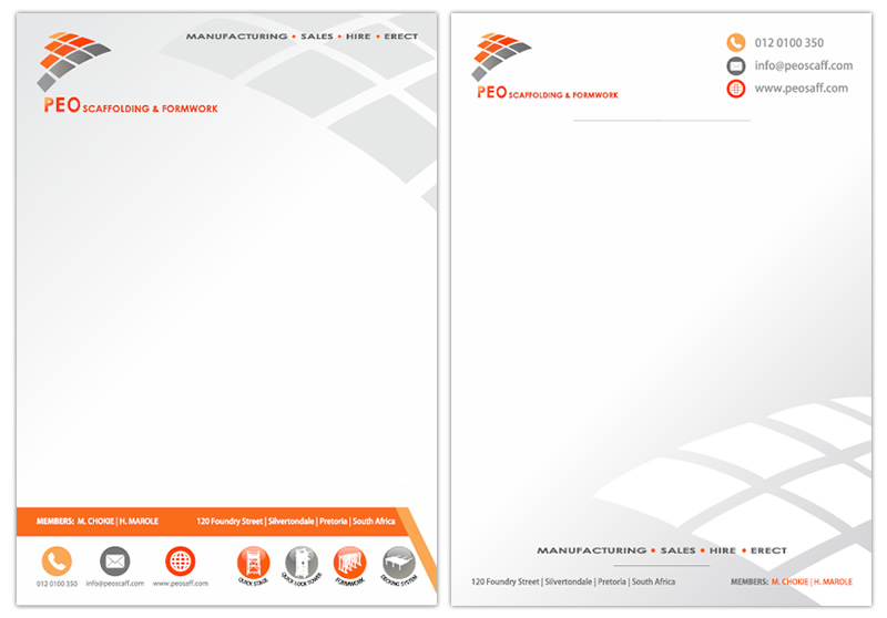 Letterhead And Complimentary Slip Designers Corporate Letterhead